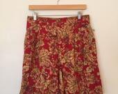 Red Floral Shorts / Large/XL / Liz Claiborne Shorts