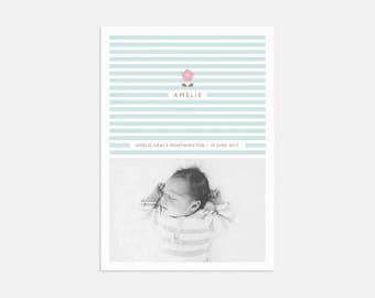 Baby Blossom Birth Announcements