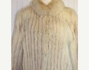 50% Off Spring Sale Vintage Saga Silver Fox Fur Coat Jacket sz L FREE U.S. Shipping!