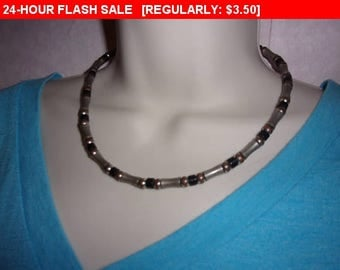 vintage bead choker necklace, hippie jewelry