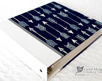 0 to 12 months Baby Memory Book - Navy Arrows