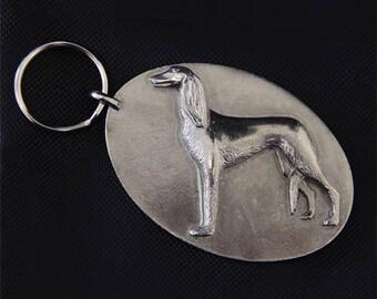 Saluki Keychain - Saluki Keyring - Saluki Key Ring - Key Chain