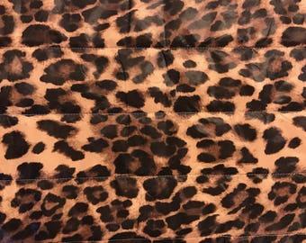 Outerwear Fabric-Leopard Puffer Jacket Fabric-Fabric for Outerwear Fabric-Coat Fabric-Animal Print Fabric-Coating Fabrics-Winter Jacket