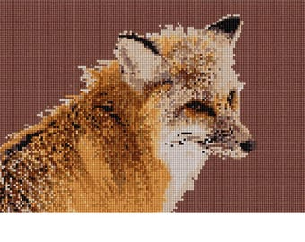 Needlepoint Kit or Canvas: Fox