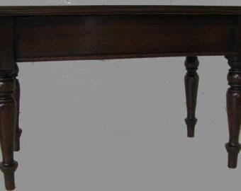 Victorian mahogany table apprentice piece