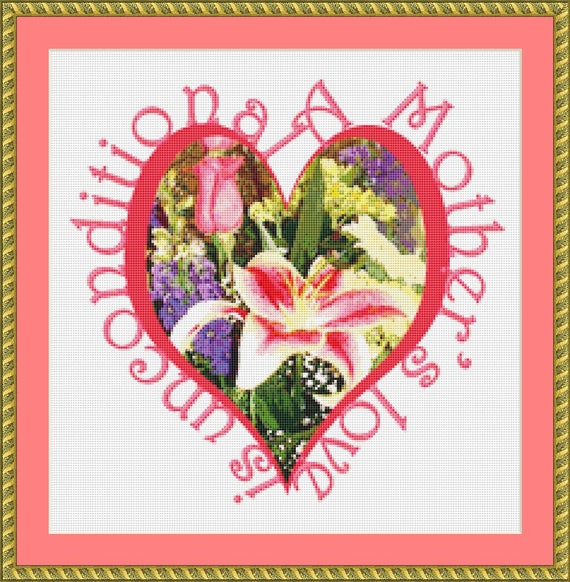 A Mother's Love Cross Stitch Pattern /Digital PDF Files /Instant downloadable