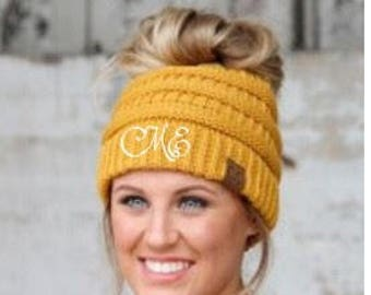 Messy Bun Beanie - Ponytail Beanie - Top Knot Beanie - CC Beanie - Crochet Bun Hat - Messy Bun Hat