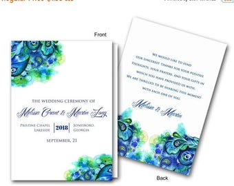 Summer Sale Summer Bliss Fold Wedding Ceremony Program