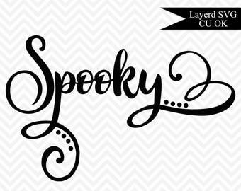 Spooky Swirls Halloween Cut File - Digital Stencil Design - SVG Cutting File  - Vinyl Wall Design - Transparent PNG - Overlay