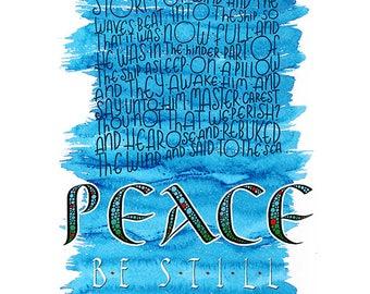 Mark 4:39 Peace, Be Still
