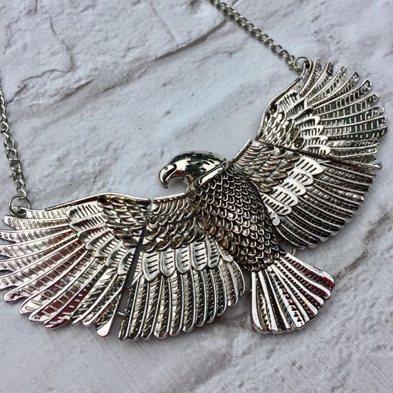 Statement Eagle Necklace Silver