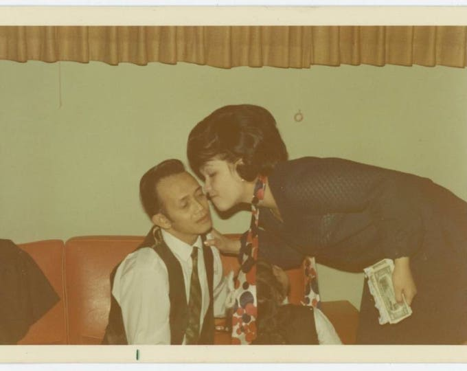 Fistful of Dollars Merits Kiss, 1970: Vintage Photo Snapshot (76588)