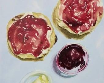 Afternoon Tea Scones Painting