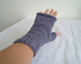 Handknitted fingerless gloves