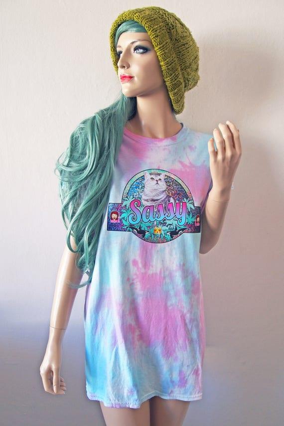 Sassy Cat Dye T-Shirt cute gift tumblr