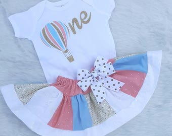 First birthday outfit girl, Hot air balloon birthday girl, first birthday, first birthday outfit, hot air balloon birthday, hot air balloon