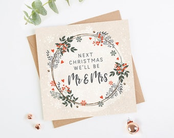 Fiance Fiancee Christmas Card