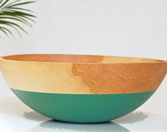 Large Beech Salad Bowl by WILLFUL | Salad bowl, Serving bowl, Catch all, Wedding Gift