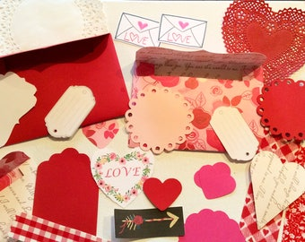 Love wedding Valentine's Day kits for card making scrapbooks planners journals