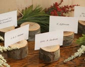 RESERVED For Jeanette 10 Rustic Place Card Holder-ship with original order