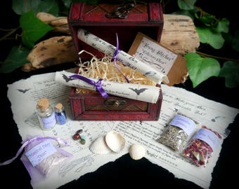 Young Witches Collector Chest Starter kit With Fairy Dust, Potion Bottle and herbs