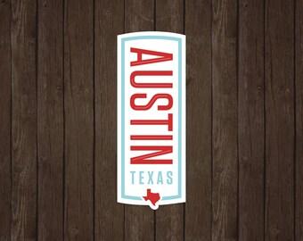 Austin Texas   Vinyl Sticker Design Collection