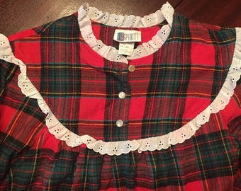 Vintage Plaid Night Gown
