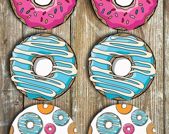 Donuts Set Of 6 NEOPRENE Non Slip Hear Resistant Housewarming, Birthdays, Christmas