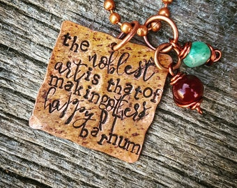 P.T. Barnum Quote Necklace ; The Greatest Showman Quote