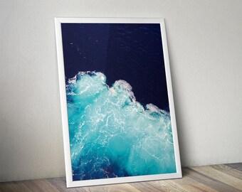 Ocean Landscape Photograph Art Print, Scandinavian Print, Digital Download Large Downloadable Poster, Instant Download, Minimal Design Print