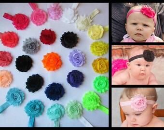 YOU PICK 5 Baby Headband, Shabby Chic Headband Set, Infant Headbands, Newborn Headbands