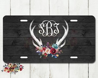 Deer License Plate Etsy