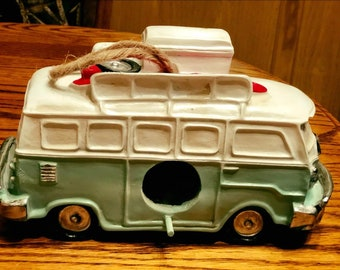 Old Vintage Style Decor Van Bus Birdhouse