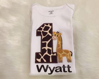Giraffe Birthday/First Birthday/ Jungle Birthday/Safari theme/ First Birthday Outfit/CakeSmash/PhotoProp/Boy Birthday