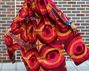 MUZIKI - African Print Full Length Kimono