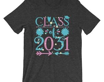 Class of 2031 Graduation Cute Kids t-shirt