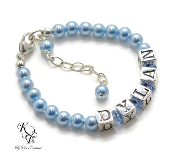 Baby gift baby bracelets choice of colors personalized baby like this item negle Choice Image