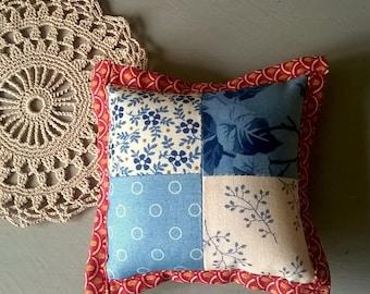 Edyta Sitar Fabric Patchwork Pincushion with French Lavender