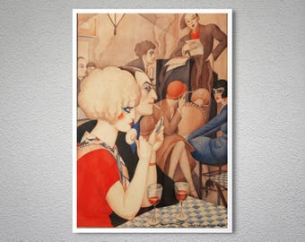 La Vie Parisien by Gerda Wegener - Poster Paper, Sticker or Canvas Print / Gift Idea