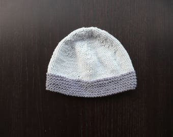 Baby Blue knit baby Hat