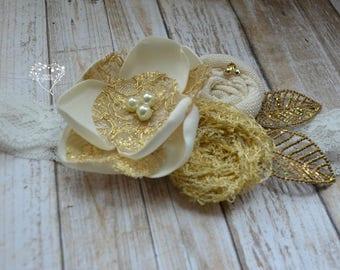 The Flower Girl (wedding, ivory, gold)