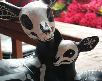Day of the Dead, Doe and Fawn, Creepy, Skeletal, Altar pets