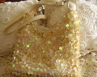 Vintage SEQUINED Fancy BAG/PURSE