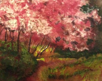 Cherry Tree Giclee Print From Original Painting, Choose Size