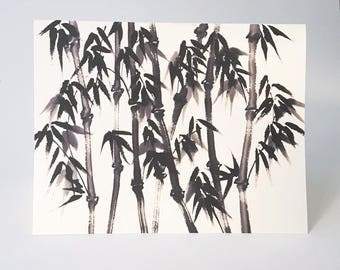 Rainy Bamboo A2 Note Card Set of 8