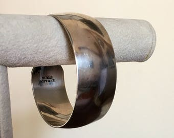 Gorgeous cuff sterling silver bracelet made by S. Kirk & Son