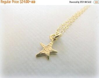 SALE - Starfish necklace - Tiny Starfish necklace - gold starfish necklace - Tiny necklace