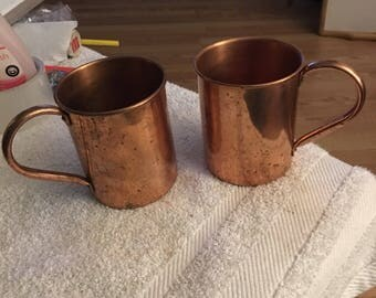 Copper Mule cups...free shipping !!!