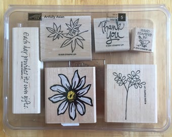 Stampin' Up Flower Stamps 6 stamps in a box Craft Supply