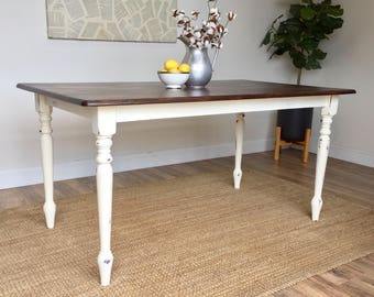 distressed kitchen table small white dining table country cottage furniture farmhouse kitchen table. Interior Design Ideas. Home Design Ideas